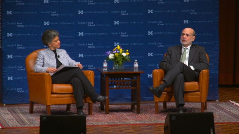 Camelot Studios films Ben Bernanke at U of M
